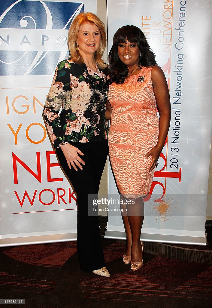 Arianna Huffington and Star Jones attend the 2013 Spark. Ignite Your Network conference at the Sheraton New York Hotel & Towers on April 26, 2013 in New York City.