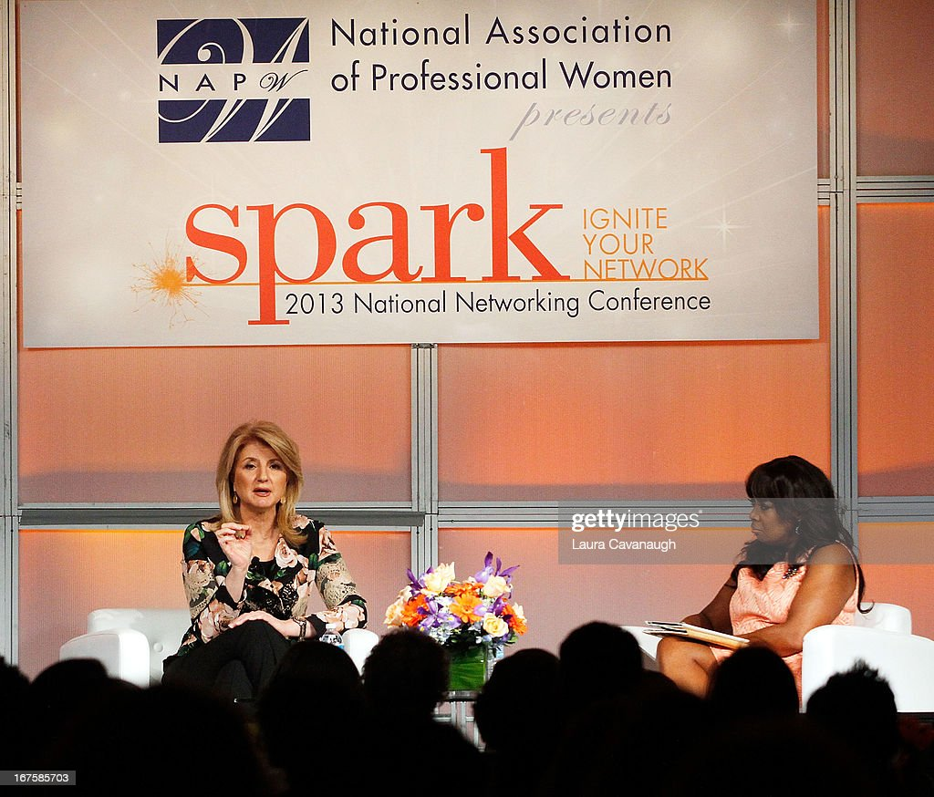 <a gi-track='captionPersonalityLinkClicked' href=/galleries/search?phrase=Arianna+Huffington&family=editorial&specificpeople=204730 ng-click='$event.stopPropagation()'>Arianna Huffington</a> and <a gi-track='captionPersonalityLinkClicked' href=/galleries/search?phrase=Star+Jones&family=editorial&specificpeople=202645 ng-click='$event.stopPropagation()'>Star Jones</a> attend the 2013 Spark. Ignite Your Network conference at the Sheraton New York Hotel & Towers on April 26, 2013 in New York City.