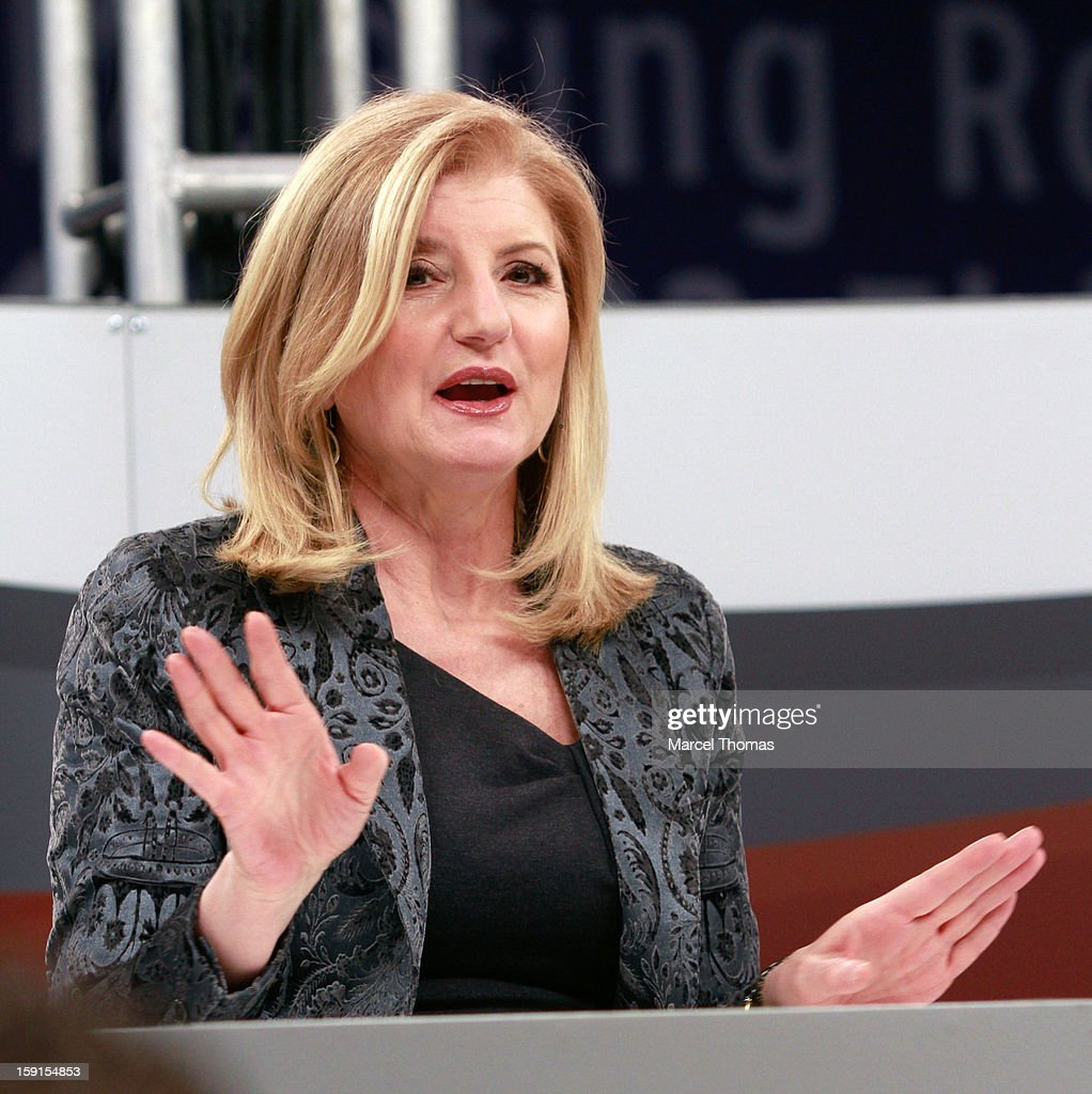 <a gi-track='captionPersonalityLinkClicked' href=/galleries/search?phrase=Arianna+Huffington&family=editorial&specificpeople=204730 ng-click='$event.stopPropagation()'>Arianna Huffington</a> appears on the CNET stage during at the 2013 International CES held at the Las Vegas Convention Center on January 8, 2013 in Las Vegas, Nevada.