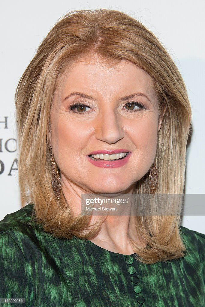 Arianna Huffington attends Global Champions Of A Mother's Fight Awards Dinner at Mandarin Oriental Hotel on February 20, 2013 in New York City.