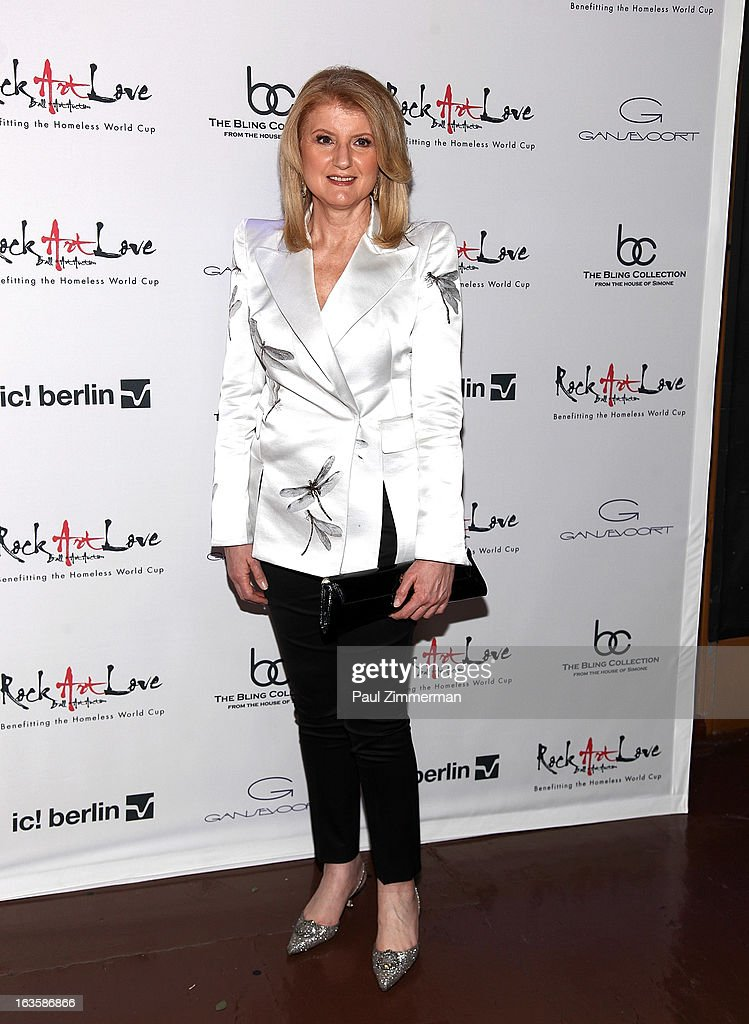 Arianna Huffington attends ROCK ART LOVE at The Angel Orensanz Foundation on March 12, 2013 in New York City.