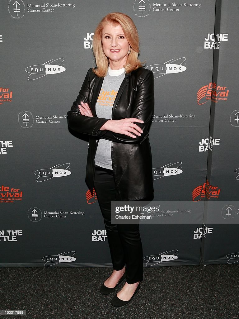 Arianna Huffington attends the 2013 Cycle For Survival Benefit at Equinox Rock Center on March 3, 2013 in New York City.