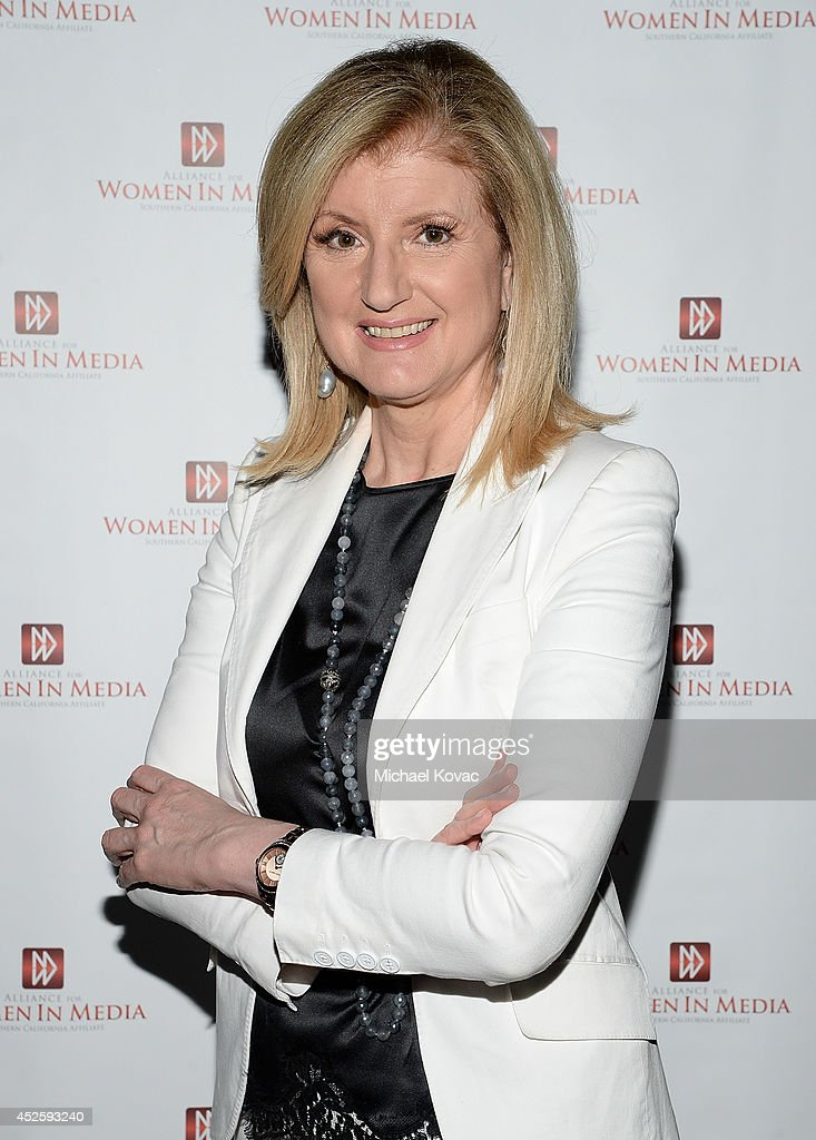 <a gi-track='captionPersonalityLinkClicked' href=/galleries/search?phrase=Arianna+Huffington&family=editorial&specificpeople=204730 ng-click='$event.stopPropagation()'>Arianna Huffington</a> attends The Alliance for Women In Media Southern California Affiliate for An Inspiring Evening With <a gi-track='captionPersonalityLinkClicked' href=/galleries/search?phrase=Arianna+Huffington&family=editorial&specificpeople=204730 ng-click='$event.stopPropagation()'>Arianna Huffington</a> at CBS Studios - Radford on July 23, 2014 in Studio City, California.