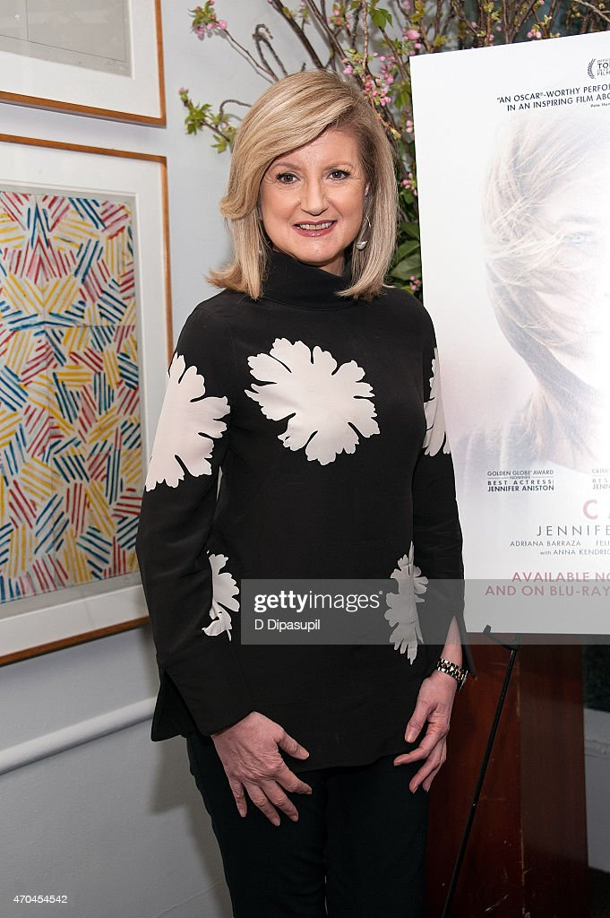 <a gi-track='captionPersonalityLinkClicked' href=/galleries/search?phrase=Arianna+Huffington&family=editorial&specificpeople=204730 ng-click='$event.stopPropagation()'>Arianna Huffington</a> attends the 'Cake' Blu-Ray and DVD Release Celebration at Michael's Restaurant on April 20, 2015 in New York City.