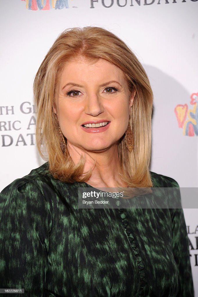 Arianna Huffington attends the Elizabeth Glaser Global Champions of a Mothers Fight Awards Dinner at Mandarin Oriental Hotel on February 20, 2013 in New York City.