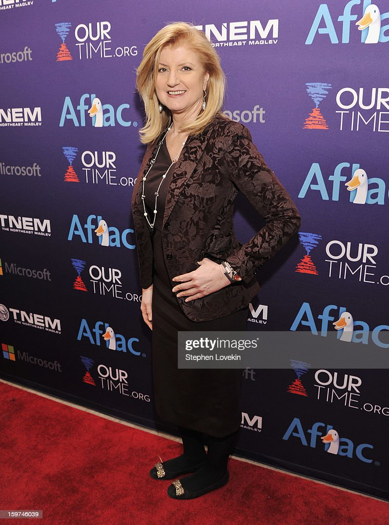 Arianna Huffington attends the Generation Now Inaugural Youth Ball hosted by OurTime.org on January 19, 2013 in Washington, United States.