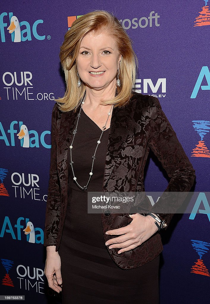 Arianna Huffington attends the Inaugural Youth Ball hosted by OurTime.org at Donald W. Reynolds Center on January 19, 2013 in Washington, United States.