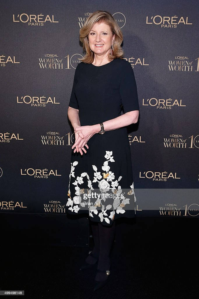 Arianna Huffington attends the L'Oreal Paris Women of Worth 2015 Celebration - Inside at The Pierre Hotel on December 1, 2015 in New York City.