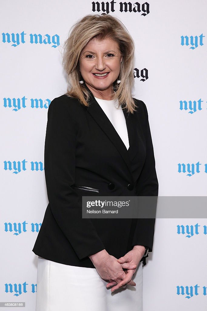 <a gi-track='captionPersonalityLinkClicked' href=/galleries/search?phrase=Arianna+Huffington&family=editorial&specificpeople=204730 ng-click='$event.stopPropagation()'>Arianna Huffington</a> attends The New York Times Magazine Relaunch Event on February 18, 2015 in New York City.