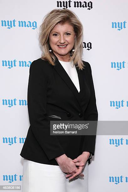 Arianna Huffington attends The New York Times Magazine Relaunch Event on February 18 2015 in New York City