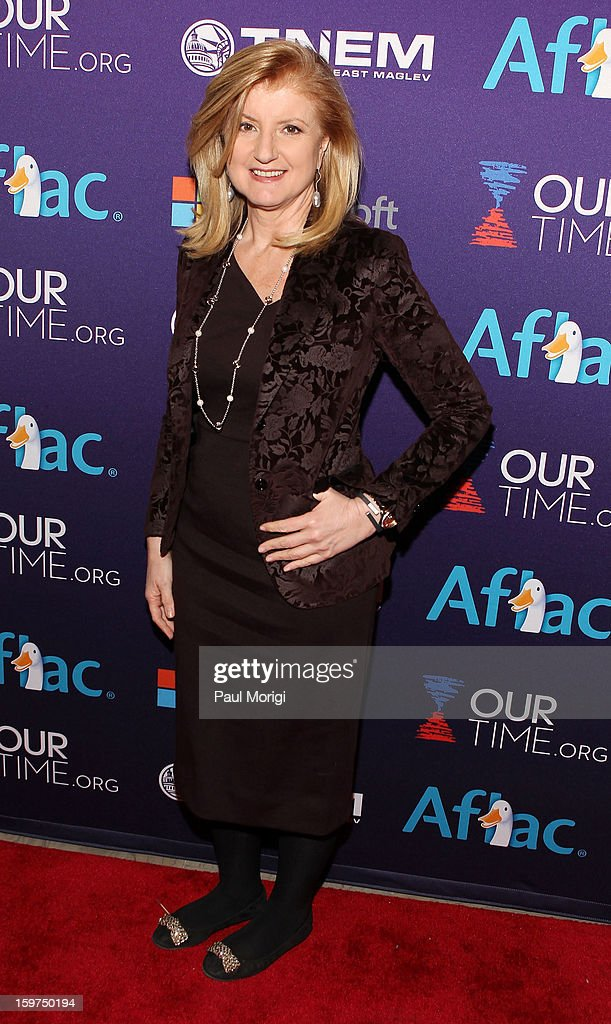 Arianna Huffington attends the OurTime.org Hosts Inaugural Youth Ball on January 19, 2013 in Washington, DC.