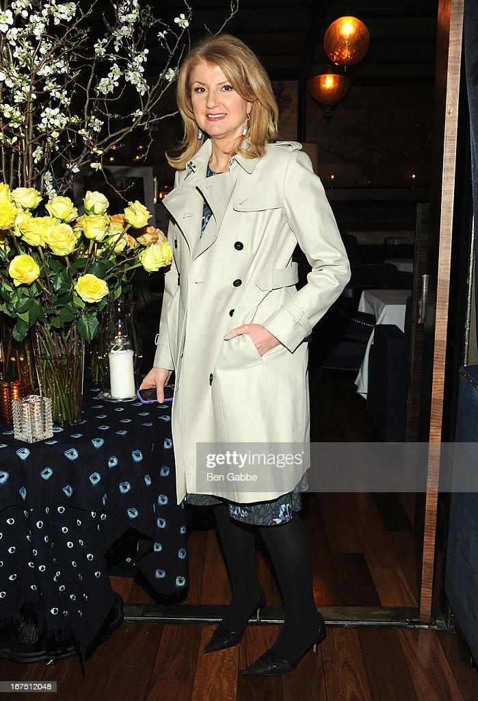 Arianna Huffington attends the Out of Print Tribeca Film Festival After Party on April 25, 2013 in New York City.