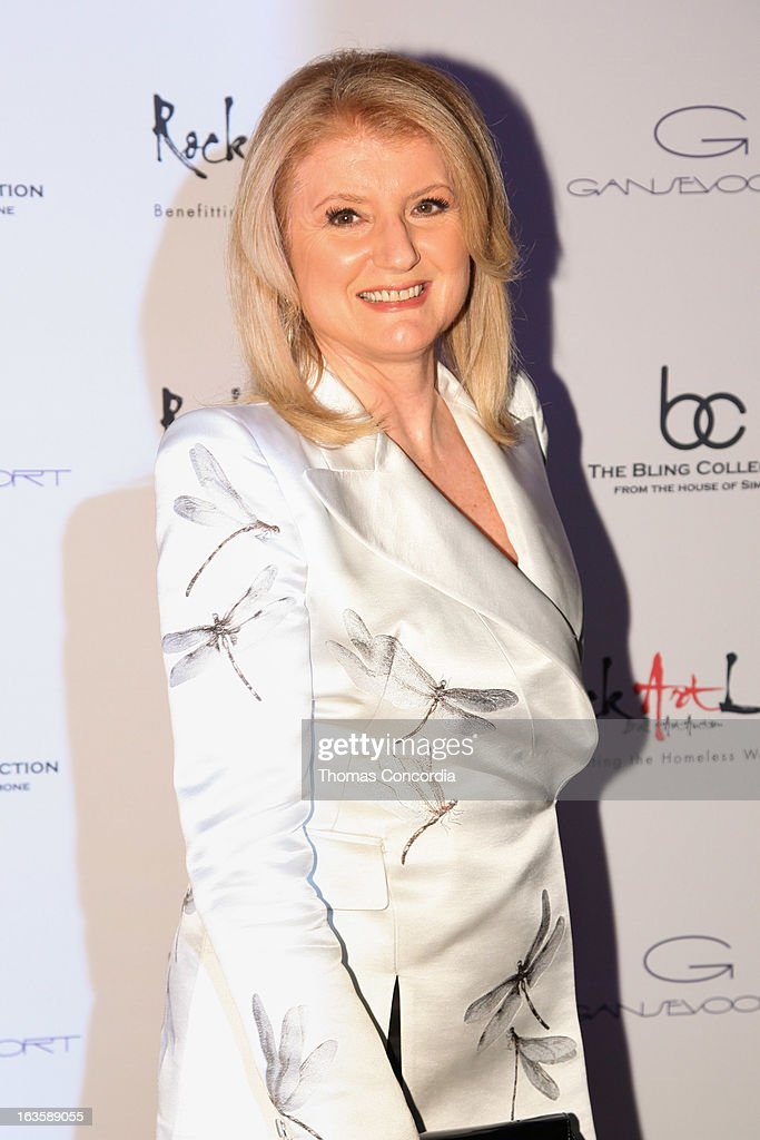 Arianna Huffington attends the Rock Art Love Ball on March 12, 2013 in New York City.