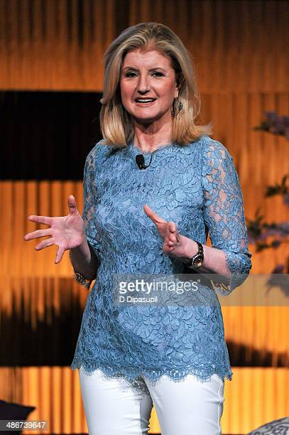Arianna Huffington attends THRIVE A Third Metric Live Event at New York City Center on April 25 2014 in New York City