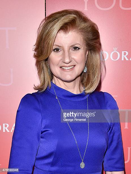 Arianna Huffington attends Unique Lives with guest speaker Arianna Huffington at Roy Thomson Hall on June 1 2015 in Toronto Canada