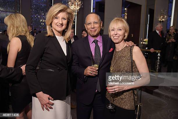 Arianna Huffington executive editor of The New York Times Dean Baquet and Dylan Landis attend The New York Times Magazine Relaunch Event on February...