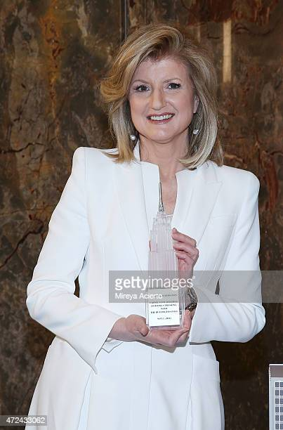 Arianna Huffington lights the Empire State Building in celebration of The Huffington Post's 10 Year Anniversary at The Empire State Building on May 7...