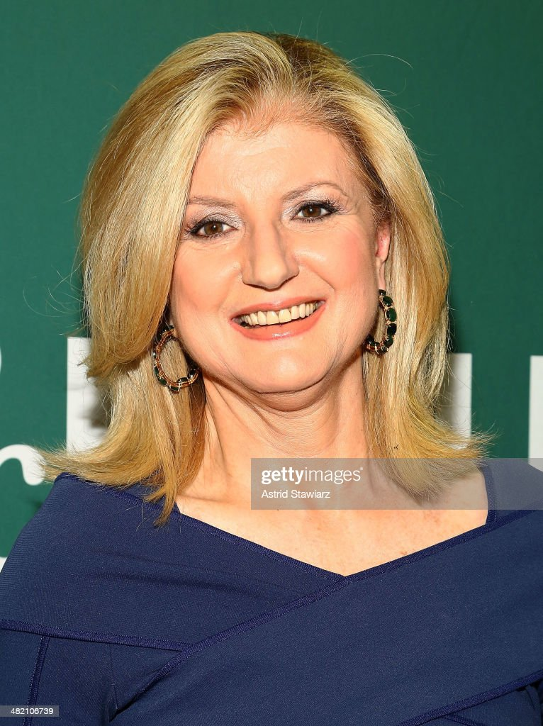 <a gi-track='captionPersonalityLinkClicked' href=/galleries/search?phrase=Arianna+Huffington&family=editorial&specificpeople=204730 ng-click='$event.stopPropagation()'>Arianna Huffington</a> promotes the new book 'Thrive: The Third Metric To Redefining Success And Creating A Life Of Well-Being, Wisdom, And Wonder' at Barnes & Noble Union Square on April 2, 2014 in New York City.