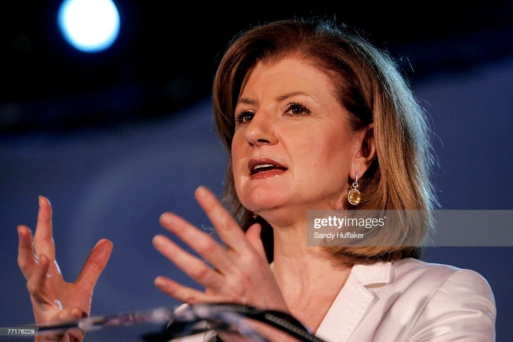 Arianna Huffington speaks at the Webby Connect Summit on October 3, 2007 in Dana Point, California.