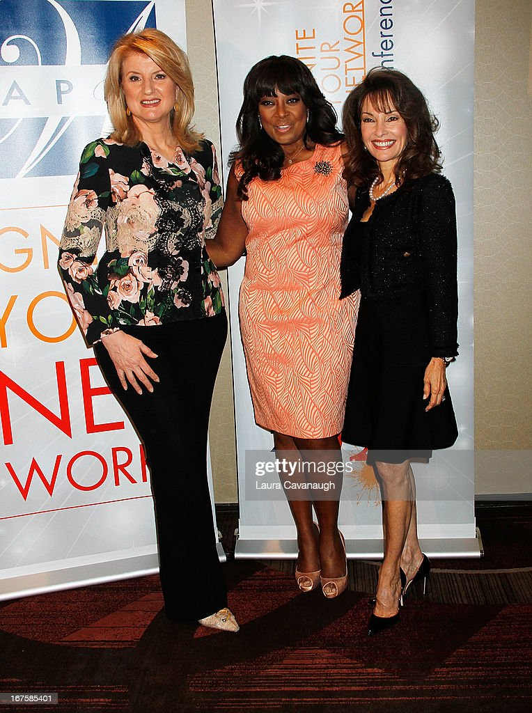 Arianna Huffington, Star Jones and Susan Lucci attend the 2013 Spark. Ignite Your Network conference at the Sheraton New York Hotel & Towers on April 26, 2013 in New York City.