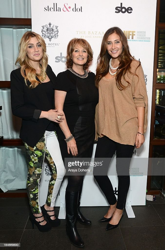 Arianna Thomopoulos, Cristina Ferrare and Alex Thomopoulos attend the Stella & Dot Trunk Show Benefiting The Noreen Fraser Foundation at The Bazaar at the SLS Hotel Beverly Hills on October 14, 2013 in Los Angeles, California.