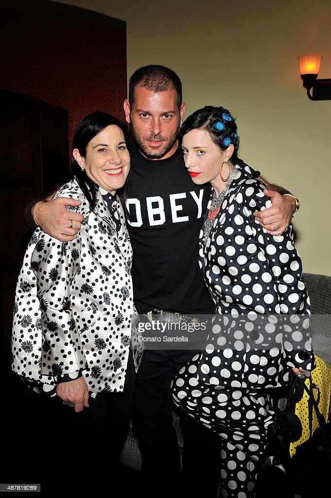 Arianne Phiilips, Fausto Puglisi and B. Akerlund attend A private dinner In honor of Fausto Puglisi of Emanuel Ungaro hosted by Barneys New York at Chateau Marmont on May 1, 2014 in Los Angeles, California.
