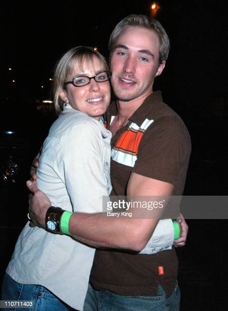 Arianne Zuker and husband Kyle Lowder during 'Days Of Our Lives' Stars Visit Knott's Berry Farms 'Halloween Haunt' at Knott's Berry Farm in Buena...