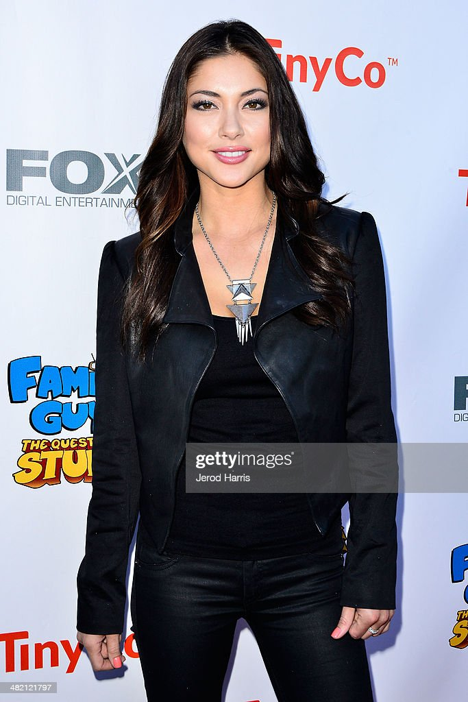 <a gi-track='captionPersonalityLinkClicked' href=/galleries/search?phrase=Arianny+Celeste&family=editorial&specificpeople=4900711 ng-click='$event.stopPropagation()'>Arianny Celeste</a> attends the Launch Party for the 'Family Guy' Game at the Happy Ending Bar & Restaurant on April 2, 2014 in Hollywood, California.