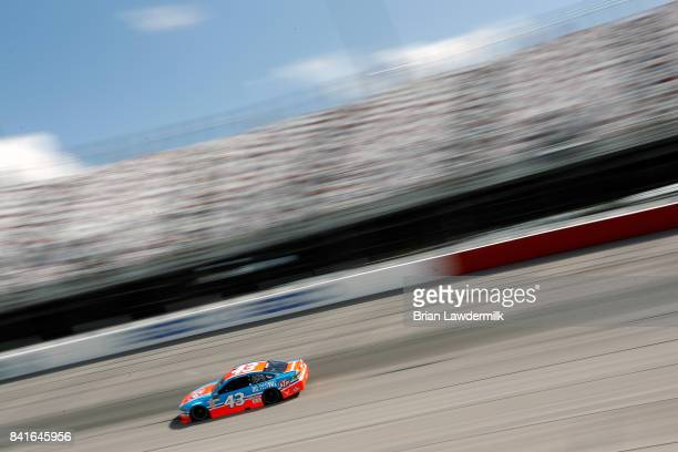 Aric Almirola driver of the STP Ford practices for the Monster Energy NASCAR Cup Series Bojangles' Southern 500 at Darlington Raceway on September 1...