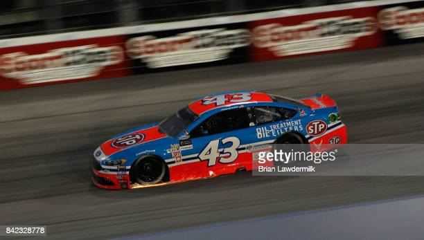Aric Almirola drives the STP Ford during the Monster Energy NASCAR Cup Series Bojangles' Southern 500 at Darlington Raceway on September 3 2017 in...