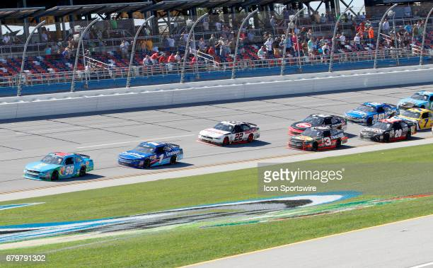 Aric Almirola Fresh From Florida Ford Mustang heads to the finish line to take the checkered flag and win the Sparks Energy 300 NASCAR Xfinity Series...