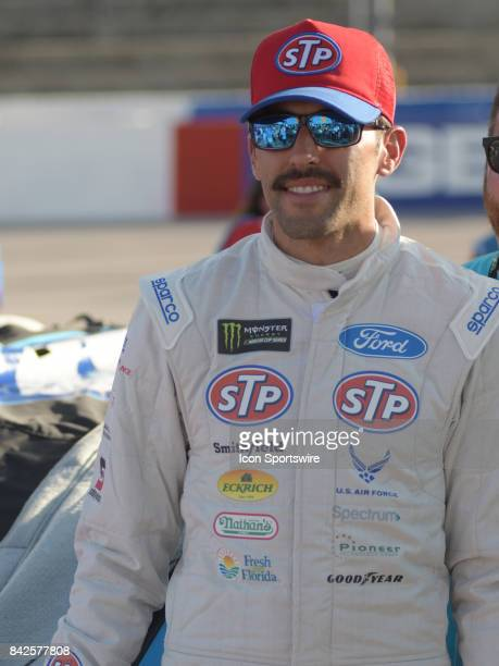 Aric Almirola Richard Petty Motorsports STP Ford Fusion before the NASCAR Monster Energy Cup Series Bojangles Southern 500 on September 03 at...