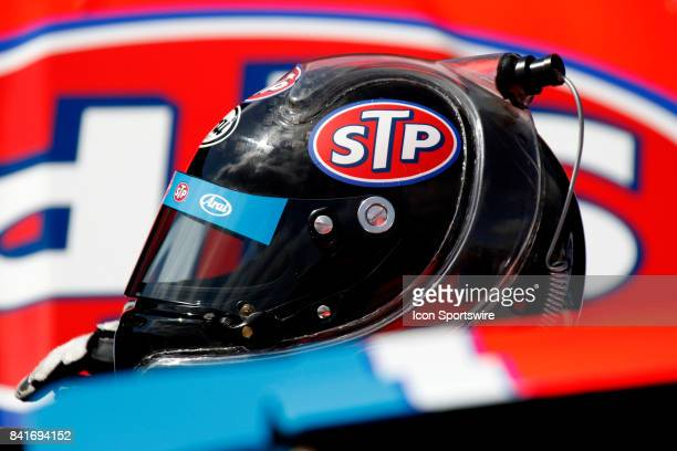 Aric Almirola Richard Petty Motorsports STP Ford Fusion during practice for the Bojangles Southern 500 on September 1 2017 at Darlington Raceway in...