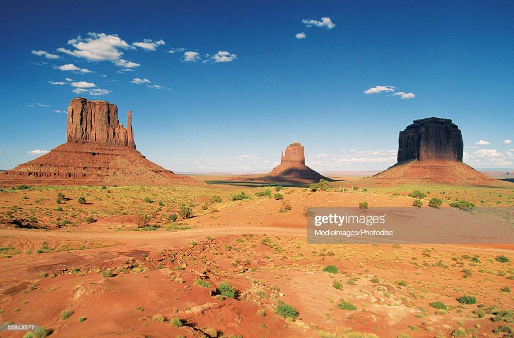 Arid landscape, Monument Valley Navajo Tribal Park, Arizona, USA