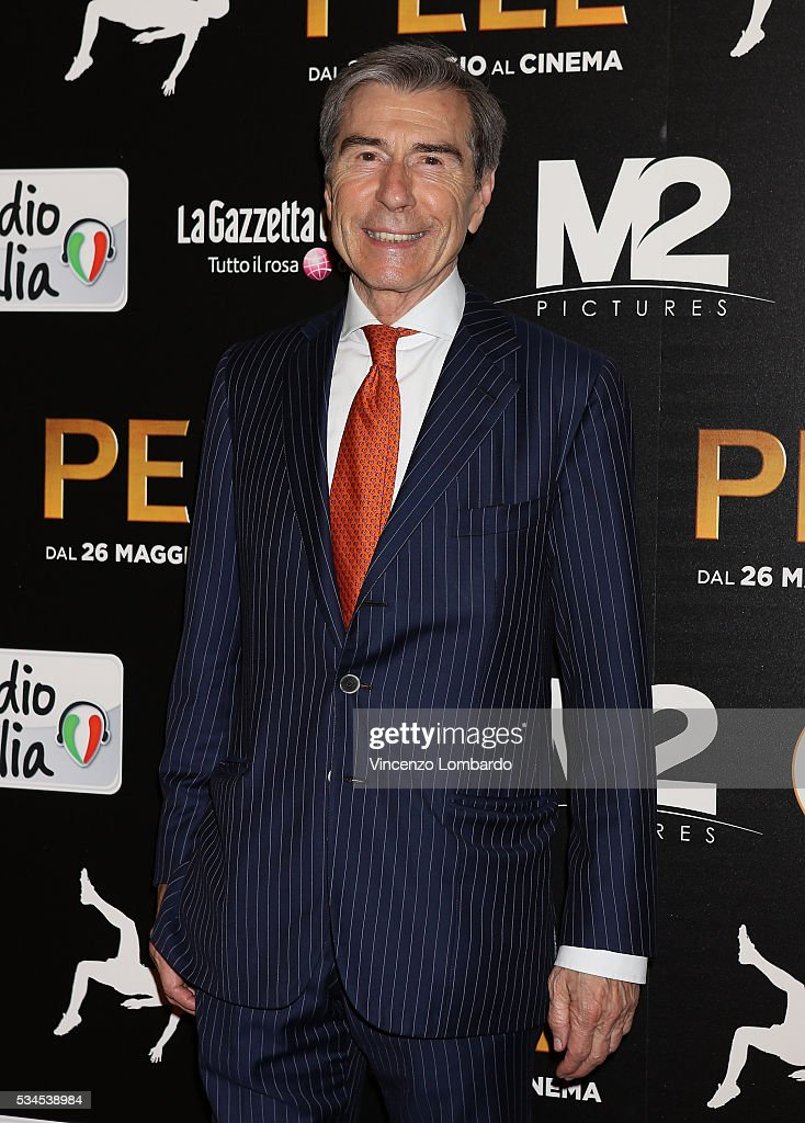 Ariedo Braida attends the 'Pele' Red Carpet on May 26, 2016 in Milan, Italy.
