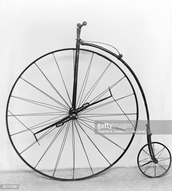 Ariel bicycle with no pedals tyres or saddle The Ariel was designed by James Starley and William Hillman at a bicycle factory in Coventry and was the...