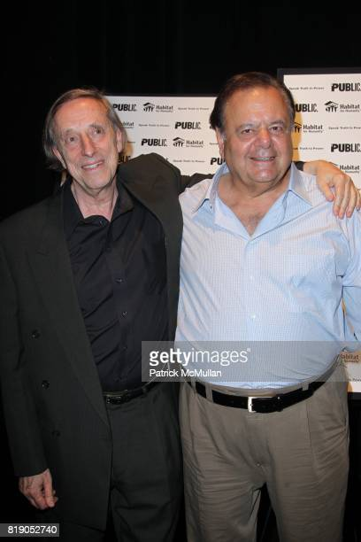 Ariel Dorfman and Paul Sorvino attend THE PUBLIC THEATRE Presents a OneNightOnly Benefit Reading of SPEAK TRUTH TO POWER Voice Beyond the Dark at The...