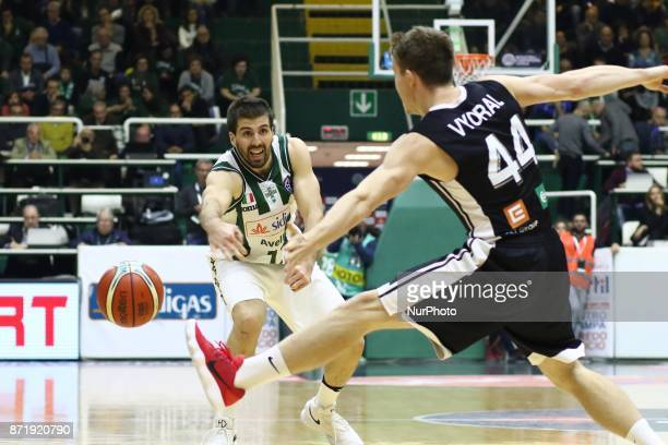 Ariel Filloy of Sidigas Avellino during third day of Champions League match between Sidigas Avellino v Cez Nymburk at Palasport Giacomo Del Mauro...