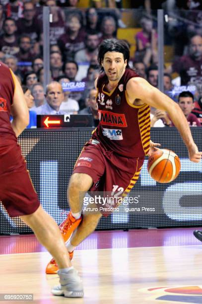 Ariel Filloy of Umana competes in action during the match game 2 of play off final series of LBA Legabasket of Serie A1 between ReyerUmana Venezia...