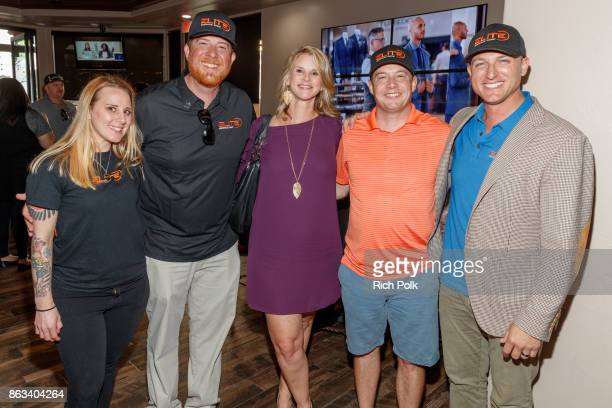 Ariel Hardman Phil Dixon Apyrl Smith Lee Smith and Dustin Tillman attend the Swing Fore The Vets Charity Golf Tournament on October 19 2017 in Rancho...