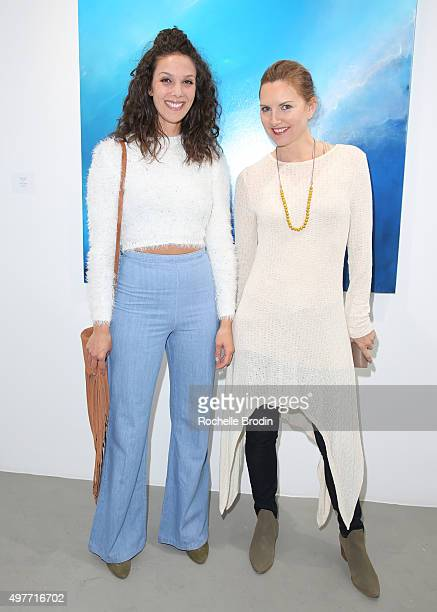 Ariel Kirylo and Tamiko McConnell attend Steve Janssen's 'Brain Change' exhibition at De Re Gallery on November 17 2015 in West Hollywood California