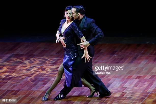 Ariel Leguizamon and Yasica Esquivel of Argentina dance during the Stage Tango Final as part of Buenos Aires Tango Festival World Championship 2016...