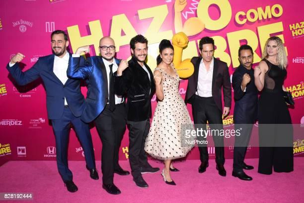 Ariel Levi Nicolas Lopez Alfonso Dosal Aislinn Derbez Mauricio OchmannIgnacia Allamand are seen during the pink carpet to promote the latest film...