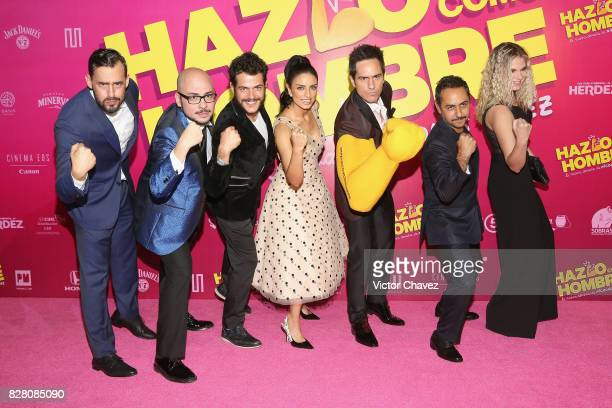 Ariel Levy film director Nicolas Lopez Alfonso Dosal Aislinn Derbez Mauricio Ochmann Humberto Busto and Ignacia Allamand attend the 'Hazlo Como...