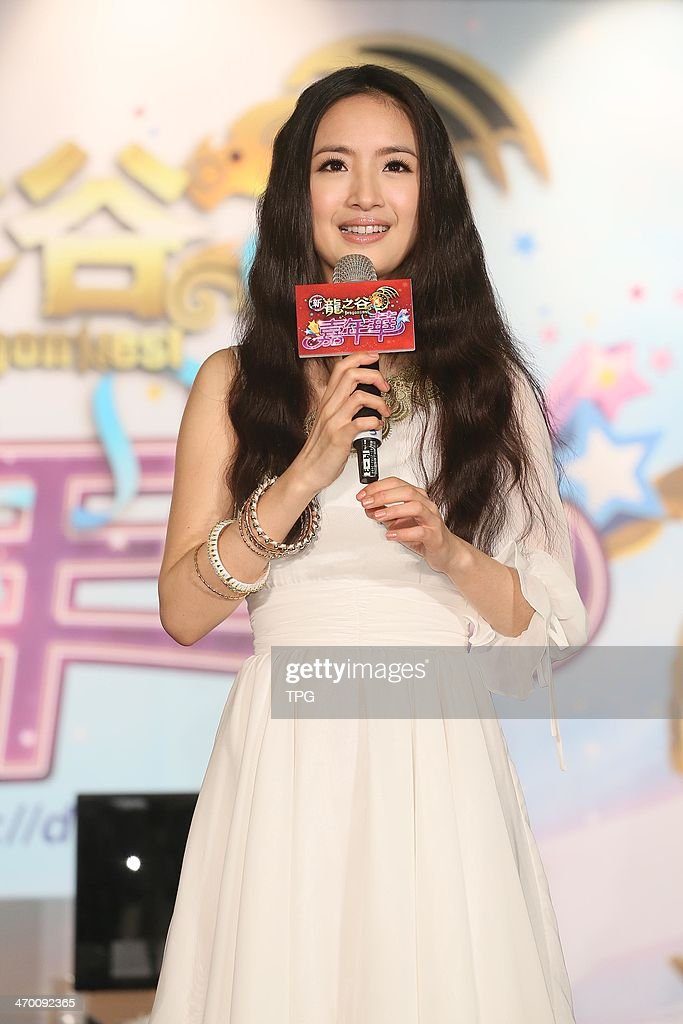 Ariel Lin promotes online game on Saturday February 15,2013 in Taipei,China.