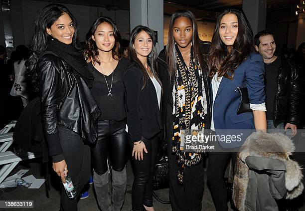 Ariel Meredith Jarah Mariano Emmanuelle Chriqui Damaris Lewis and Jessica Gomez attend Crest Presents Gen Art New Garde Designers Gemma Kahng...