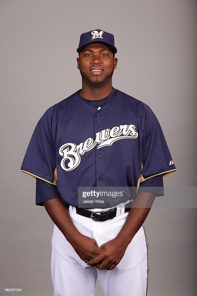 Ariel Pena #73 of the Milwaukee Brewers poses during Photo Day on February 17, 2013 at Maryvale Baseball Park in Phoenix, Arizona.