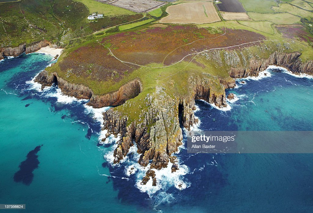 Ariel view of Cornwall : Stock Photo