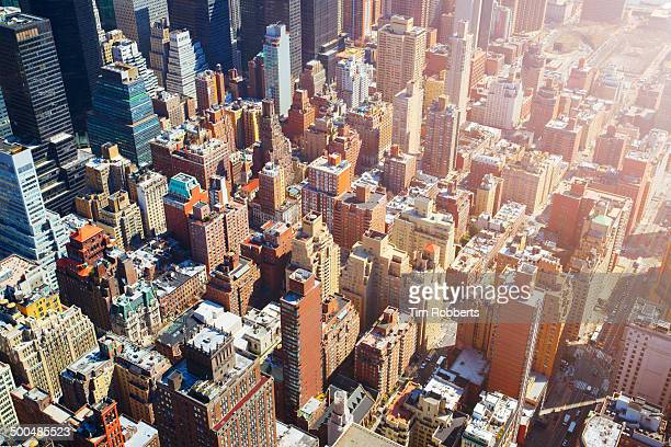 Ariel view of Midtown Manhattan.