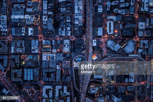 Ariel view of San Francisco, USA at night.